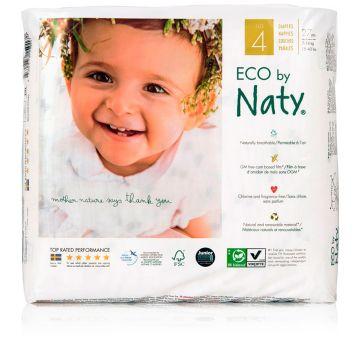 Подгузники NatyПодгузники Naty размер 4 (7-18 кг) 27 шт, в упаковке 27 шт., размер L<br><br>Штук в упаковке: 27<br>Размер: L