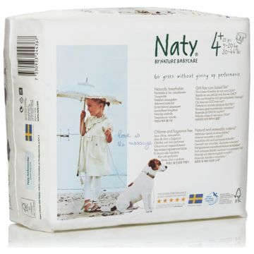 Подгузники NatyПодгузники Naty размер 4+ (9-20 кг) 25 шт, в упаковке 25 шт., размер XL (BIG)<br><br>Штук в упаковке: 25<br>Размер: XL (BIG)
