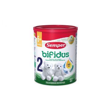 Молочная смесь SemperМолочная смесь Semper Bifidus 2 с 6 мес. 400 г, возраст 3 ступень (6-12 мес). Проконсультируйтесь со специалистом. Для детей с 6 месяцев<br><br>Возраст: 3 ступень (6-12 мес)