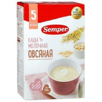 Каша SemperКаша Semper овсяная молочная с 5 мес. 200 г, возраст 2 ступень (3-6 мес). Проконсультируйтесь со специалистом. Для детей с 5 мес.<br><br>Возраст: 2 ступень (3-6 мес)