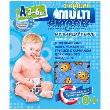 Трусики Multi-DiapersТрусики Multi-Diapers многоразовые размер S (3-6 кг) арт. 1А, размер S<br><br>Размер: S