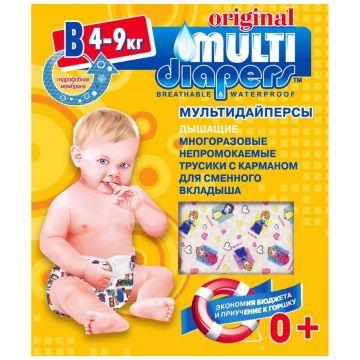 Трусики Multi-DiapersТрусики Multi-Diapers многоразовые размер M (4-9 кг) арт. 1В, размер M<br><br>Размер: M