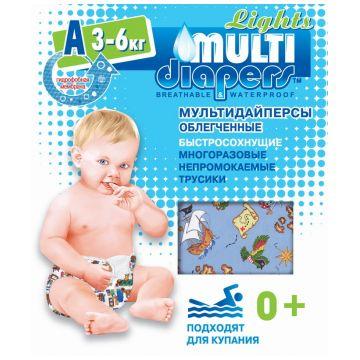Трусики для плавания Multi-DiapersТрусики для плавания Multi-Diapers размер S (3-6 кг) (непромокаемые), размер S<br><br>Размер: S