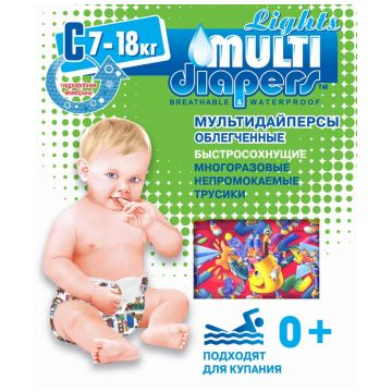 Трусики для плавания Multi-DiapersТрусики для плавания Multi-Diapers размер L (7-18 кг), размер L<br><br>Размер: L