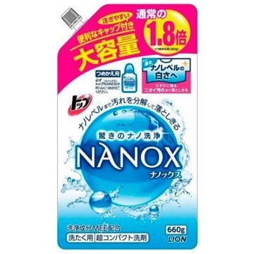 Жидкое средство для стирки Lion NANOX запасной блок 660 мл