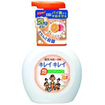 Мыло для рук пенное LionМыло для рук пенное Lion Kirei Kirei с ароматом апельсина флакон-дозатор 250 мл<br>