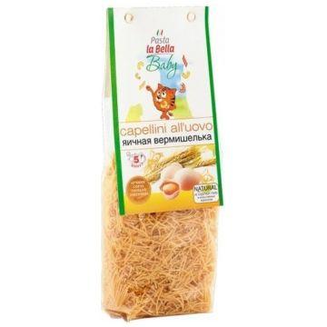 Вермишель Pasta la bella babyВермишель Pasta la bella baby яичная 250 гр, возраст 4 ступень (&gt;12 мес). Проконсультируйтесь со специалистом. Для детей с 18 мес.<br><br>Возраст: 4 ступень (&gt;12 мес)