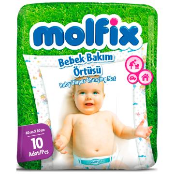 Пеленка MolfixПеленка Molfix непромокаемая одноразовая 60х60 см 10 шт, в упаковке 10 шт.<br><br>Штук в упаковке: 10