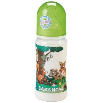 Бутылочка для кормления Baby Nova из полипропилена с широким горлышком 300 мл