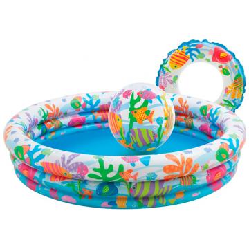 Бассейн детский надувной Intex Подводный мир с мячом 51см и кругом 51см 59469
