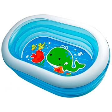 Бассейн детский надувной IntexБассейн детский надувной Intex Овальный Веселый дельфинчик 57482<br>
