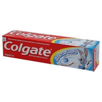 Зубная паста детская ColgateЗубная паста детская Colgate Доктор Заяц со вкусом жвачки 50 мл<br>