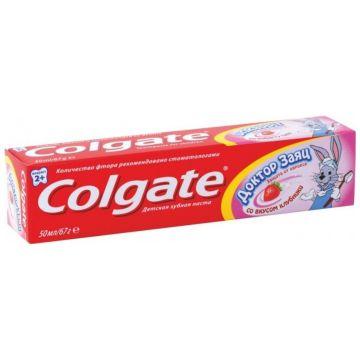 Зубная паста детская ColgateЗубная паста детская Colgate Доктор Заяц со вкусом клубники 50 мл<br>