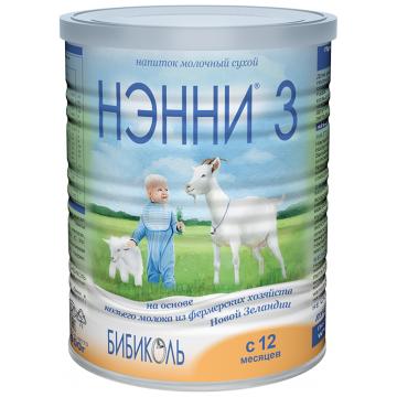 Молочная смесь НэнниМолочная смесь Нэнни 3 на основе козьего молока от 1 года 400 г, возраст 4 ступень (&gt;12 мес). Проконсультируйтесь со специалистом. Для детей с 12 мес.<br><br>Возраст: 4 ступень (&gt;12 мес)