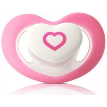 Пустышка BabyOnoПустышка BabyOno силиконовая анатомическая 6-18 мес (розовое сердечко)<br>