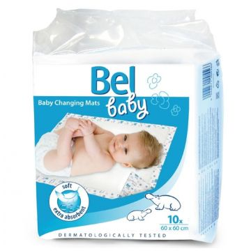 Пеленки детские Hartmann MolineaПеленки детские Hartmann Molinea Bel Baby впитывающие 60х60 10 шт, в упаковке 10 шт.<br><br>Штук в упаковке: 10