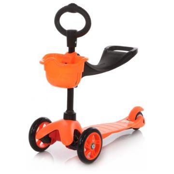 Самокат 21st scooTerСамокат 21st scooTer 3-х колёсный с сиденьем Maxi Scooter SKL-06B оранжевый<br>