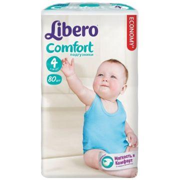 Подгузники LiberoПодгузники Libero comfort (7-14 кг) 80 шт, в упаковке 80 шт., размер L<br><br>Штук в упаковке: 80<br>Размер: L
