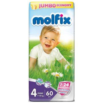 Подгузники MolfixПодгузники Molfix Maxi (7-14 кг) 60 шт, в упаковке 60 шт., размер L<br><br>Штук в упаковке: 60<br>Размер: L