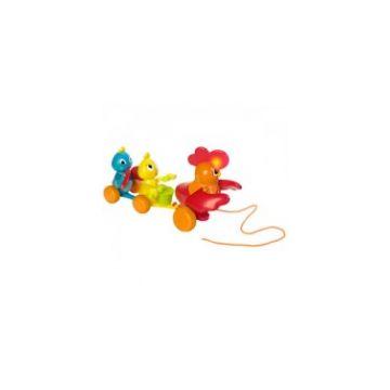 Игрушка каталка OuapsИгрушка каталка Ouaps с петушком и цыплятами 61359/6044Ou, возраст от 12 мес<br><br>Возраст: от 12 мес