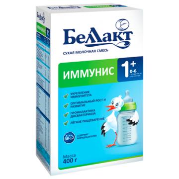 Сухая молочная смесь БеллактСухая молочная смесь Беллакт Иммунис-1+ с рождения 400 гр, возраст 1 ступень (0-3 мес). Проконсультируйтесь со специалистом. Для детей с 0 месяцев<br><br>Возраст: 1 ступень (0-3 мес)