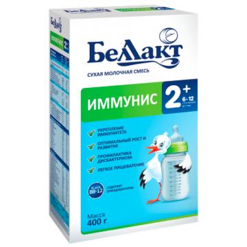 Сухая молочная смесь БеллактСухая молочная смесь Беллакт Иммунис-2+ с 6 мес. 400 гр, возраст 3 ступень (6-12 мес). Проконсультируйтесь со специалистом. Для детей с 6 месяцев<br><br>Возраст: 3 ступень (6-12 мес)