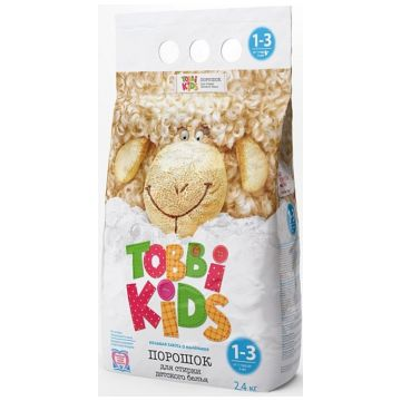 Стиральный порошок Tobbi KidsСтиральный порошок Tobbi Kids с 1-3 года 2400 гр<br>