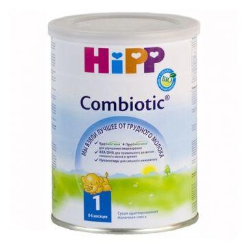 Молочная смесь Детское питание HippМолочная смесь Hipp Combiotic 1 Комбиотик 0-6 мес. 350 г, возраст 1 ступень (0-3 мес). Проконсультируйтесь со специалистом. Для детей 0-6 мес.<br><br>Возраст: 1 ступень (0-3 мес)