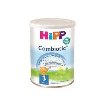 Молочная смесь Детское питание HippМолочная смесь Hipp Combiotic 3 Комбиотик с 10 мес. 350 г, возраст 4 ступень (&gt;12 мес). Проконсультируйтесь со специалистом. Для детей с 10 мес.<br><br>Возраст: 4 ступень (&gt;12 мес)