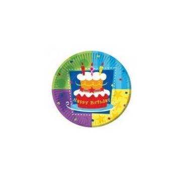 Тарелка Весёлая затеяТарелка Весёлая затея Веселая затея бум Торт Birthday 17см 0710<br>