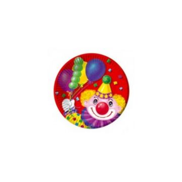 Тарелка Весёлая затеяТарелка Весёлая затея Веселая затея бум Клоун с шарами 17см 0462<br>