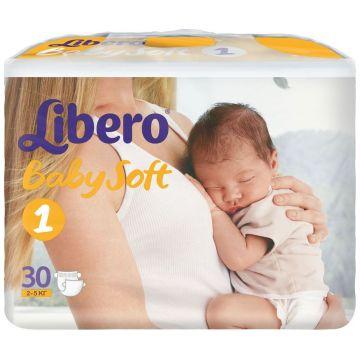 Подгузники LiberoПодгузники Libero baby soft Newborn (2-5 кг) 30 шт, в упаковке 30 шт., размер NB<br><br>Штук в упаковке: 30<br>Размер: NB