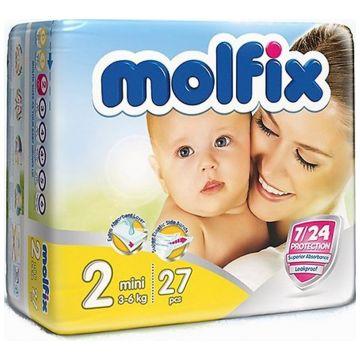Подгузники MolfixПодгузники Molfix Mini (3-6 кг) 27 шт, в упаковке 27 шт., размер S<br><br>Штук в упаковке: 27<br>Размер: S