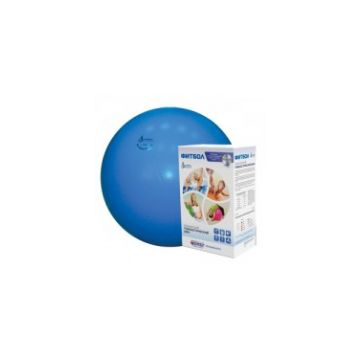 Фитбол Альпина ПластФитбол Альпина Пласт мяч голубой 450мм<br>