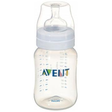 Бутылочка для кормления AventБутылочка для кормления Avent (полипропилен)260 мл 1 шт, возраст 1 ступень (0-3 мес)<br><br>Возраст: 1 ступень (0-3 мес)