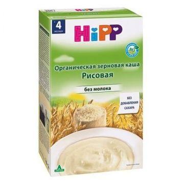 Каша HippКаша Hipp рисовая безмолочная 200 г, возраст 2 ступень (3-6 мес). Проконсультируйтесь со специалистом. Для детей с 0 месяцев<br><br>Возраст: 2 ступень (3-6 мес)