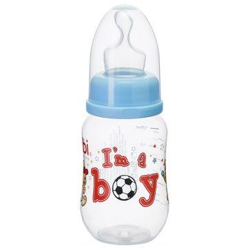 Бутылочка для кормления BibiБутылочка для кормления Bibi комфорт с ортодонтической соской для чая/воды Little Stars 125 мл, возраст 1 ступень (0-3 мес)<br><br>Возраст: 1 ступень (0-3 мес)