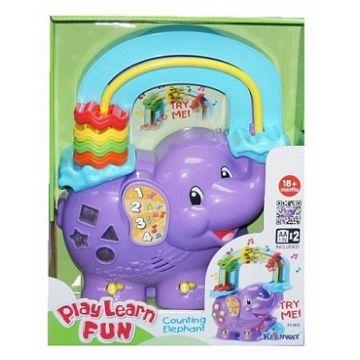 Музыкальная игрушка KeenwayМузыкальная игрушка Keenway считалка Веселый слоник 31363, возраст от 1 года<br><br>Возраст: от 1 года