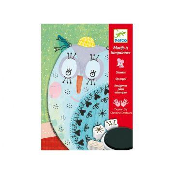Набор для творчества DjecoНабор для творчества Djeco со штампами Милые животные 08782, возраст от 6 лет<br><br>Возраст: от 6 лет