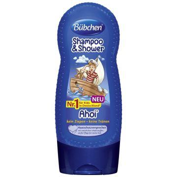 Шампунь детский BubchenШампунь детский Bubchen для мытья волос и тела Йо-хо-хо 230 мл с 3-х лет<br>