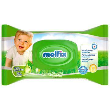Влажные салфетки для детей Molfix с лосьоном 63 шт