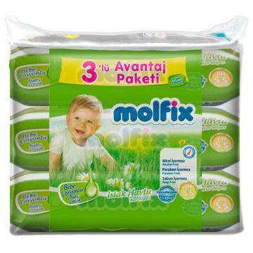 Влажные салфетки для детей MolfixВлажные салфетки для детей Molfix с лосьоном 189 шт, в упаковке 189 шт.<br><br>Штук в упаковке: 189