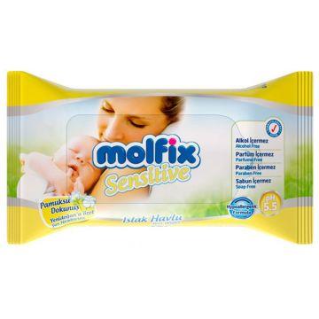 Влажные салфетки для детей MolfixВлажные салфетки для детей Molfix серии Sensitive 40 шт, в упаковке 40 шт.<br><br>Штук в упаковке: 40