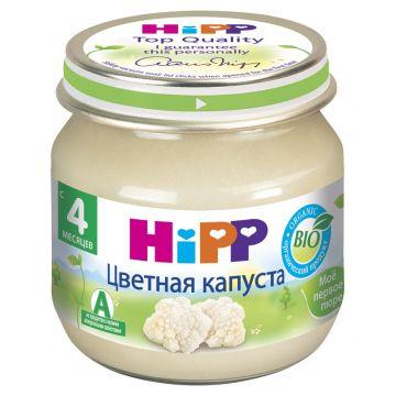 Детское пюре Детское питание HippДетское пюре Hipp цветная капуста с 4 мес. 80 г, возраст 2 ступень (3-6 мес). Проконсультируйтесь со специалистом. Для детей с 4 мес.<br><br>Возраст: 2 ступень (3-6 мес)