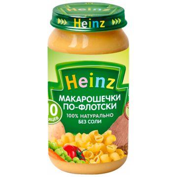 Детское пюре HeinzДетское пюре Heinz макарошки по-флотски с 10 мес. 190 г, возраст 3 ступень (6-12 мес). Проконсультируйтесь со специалистом. Для детей с 10 мес.<br><br>Возраст: 3 ступень (6-12 мес)