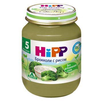 Детское пюре HippДетское пюре Hipp брокколи с рисом с 5 мес. 125 г, возраст 2 ступень (3-6 мес). Проконсультируйтесь со специалистом. Для детей с 5 мес.<br><br>Возраст: 2 ступень (3-6 мес)