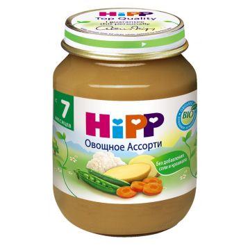 Детское пюре Детское питание HippДетское пюре Hipp овощное с 7 мес. 125 г, возраст 2 ступень (3-6 мес). Проконсультируйтесь со специалистом. Для детей с 7 мес.<br><br>Возраст: 2 ступень (3-6 мес)