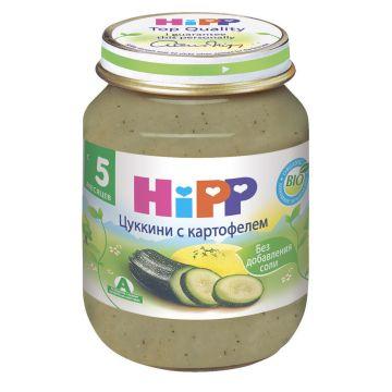 Детское пюре Детское питание HippДетское пюре Hipp кабачок с картофелем с 5 мес. 125 г, возраст 2 ступень (3-6 мес). Проконсультируйтесь со специалистом. Для детей с 5 мес.<br><br>Возраст: 2 ступень (3-6 мес)