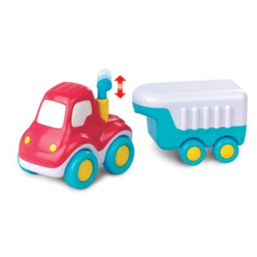Игрушка Happy KidИгрушка Happy Kid Автомобиль с прицепом 23 см 3962Т, возраст от 18 мес<br><br>Возраст: от 18 мес