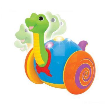 Игрушка каталка KiddielandИгрушка каталка Kiddieland Веселый динозаврик KID 037762, возраст от 1 года<br><br>Возраст: от 1 года
